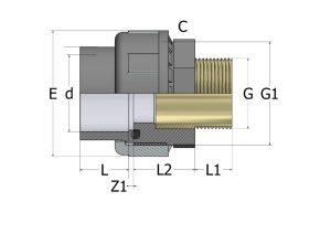 -разборная-НР-латунь-300x212 Муфта разборная (латунь) с наружней резьбой ПВХ COMER