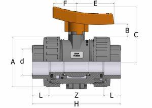 BVI30-1-300x212 Шаровой кран промышленное применение ПВХ EPDM COMER