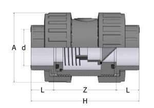 CVD10-1-300x212 Обратный клапан PVC-U COMER