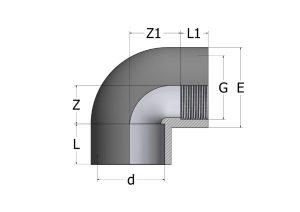 EL52-1-300x212 Угол переходной c внутренней резьбой 90° ПВХ COMER