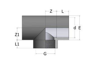 TE42-1-300x212 Тройник с внутренней резьбой 90° ПВХ COMER