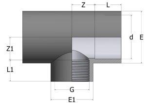 TR42-1-300x212 Тройник 90° редукционный с внутренней резьбой ПВХ COMER