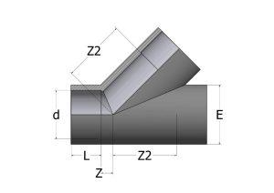 TY40-1-300x212 Тройник 45° ПВХ COMER
