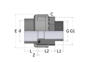US82-1-300x212 Муфта разборная с наружней резьбой ПВХ COMER