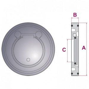 -в-разрезе-300x300 Обратный клапан межфланцевый ПВХ
