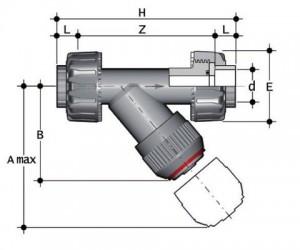 Kosoi-_1 Сетчатый фильтр с муфтовым окончанием ПВХ FIP